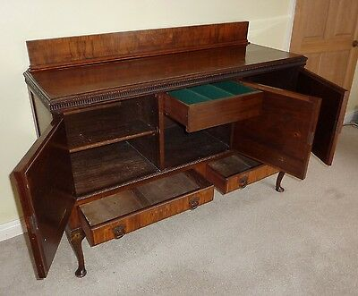 Lovely antique/period/Edwardian mahogany sideboard - with original key