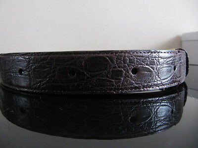 Authentic Dunhill Mens Crocodile And Leather Belt New With Tags