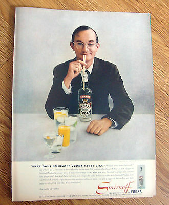 1957 Smirnoff Vodka Ad Wally Cox The Immortal Mr Peppers of TV