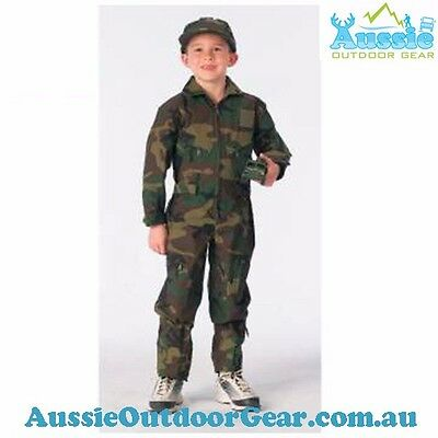 Kids Air Force Type Woodland Camo Flightsuit | ✔✔✔ Fast Free Shipping ✔✔✔