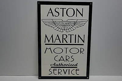 "Aston Martin Authorized Service Dealership Sign. 20.0"" X 13 1/2"" Classy Piece!"