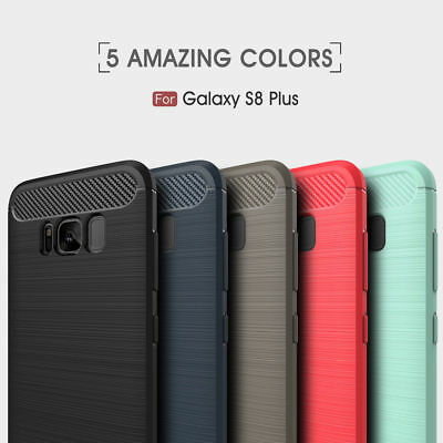 Fashion Carbon Fiber Slim Shockproof Case Cover For Samsung S8 Plus S7 S6 Note 8