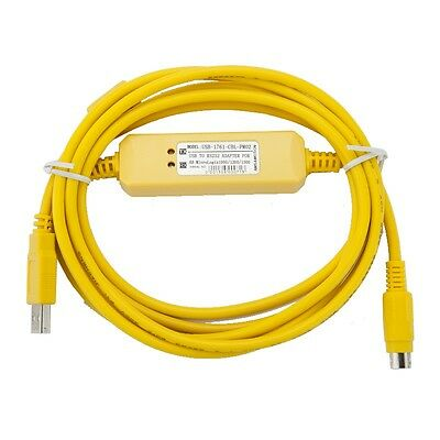 Yellow USB-1761-CBL-PM02 Programming Cable for AB MicroLogix1000/1200/1500 plc