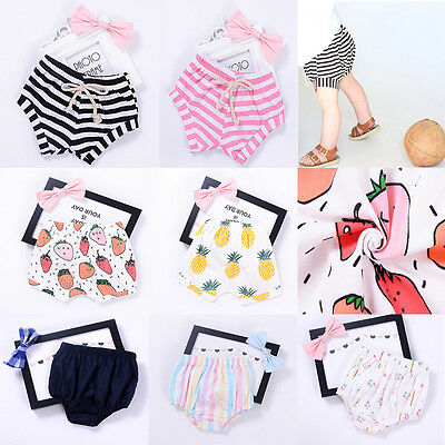 Toddler Infant Boy Girl Baby Leggings PP Shorts Pants Trousers Bottoms Bloomers