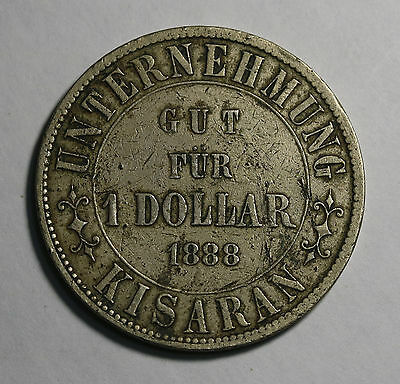 1888 NETHERLANDS EAST INDIES Sumatra Plantation Token Dollar $1 Scarce LaWe 133