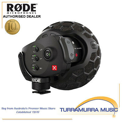 RODE Stereo VideoMic X Camera Microphone SVMX Video Mic