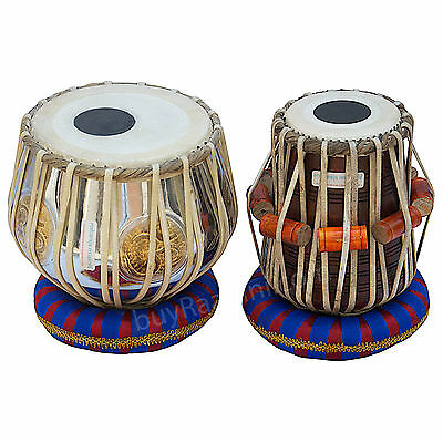 Tabla Set|ॐ|Maharaja|Om Brass Bayan 3 Kg|Indian Drums|Sheesham Dayan|India|Ec-2