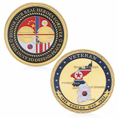 1950-1953 Korean War Veteran Commemorative Challenge Coin Souvenir Collection