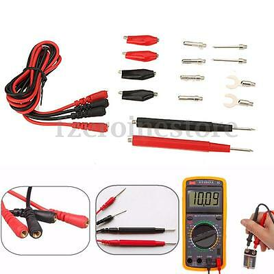 16pcs Multifunction Digital Multimeter Probe Test Leads Alligator Clip Test Kit