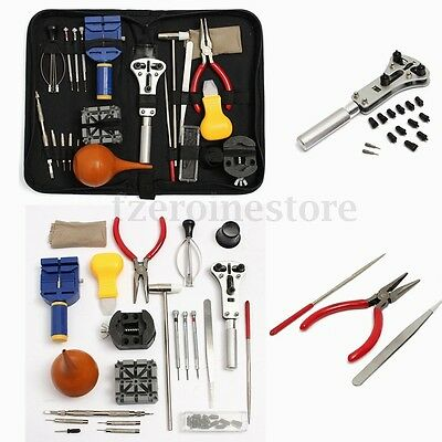 22Pcs Professional Watchmaker Watch Repair Tool Kit Back Case Opener Remover UK
