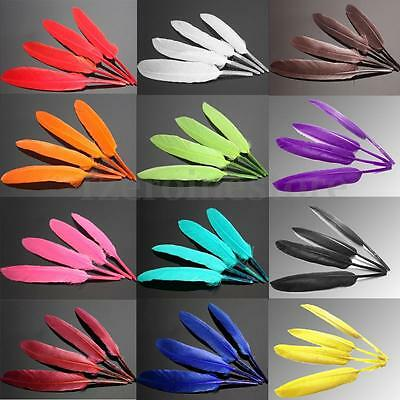 100pcs Wholesale Beautiful Assorted Goose Feathers Party Arts Crafts Trimmings