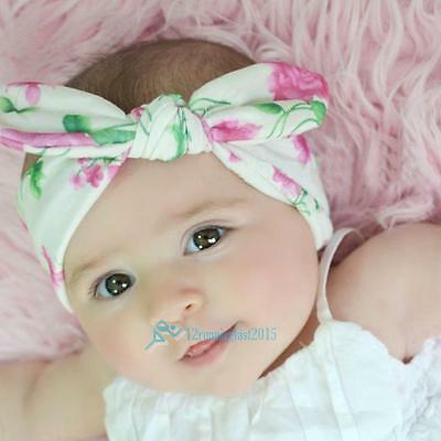 Band Hair 4pcs Newborn Bandeau ruban élastique Bébé Coiffe Enfants Fille New!