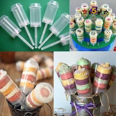 10-100pcs Cake Push Up Pop Ice-Cream Cheesecake Birthday Party Wedding Container