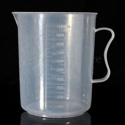 1000ML/1L Plastic Measuring Jug Cup Graduated Surface Cooking Bakery Kitchen Lab