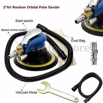 10000RPM 120mm Air Random Orbital Palm Sander Dual Action Vacuum Pneumatic New