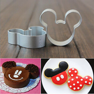 2x Mickey Mouse Cutter for Sugarcraft Cake Decorating Cookies Pastry Mold Baking