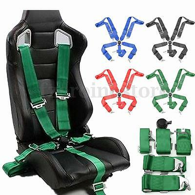 """Sport Racing Harness Seat Belt Seatbelt 3"""" 4/5 Point Fixing Quick Release 4Color"""