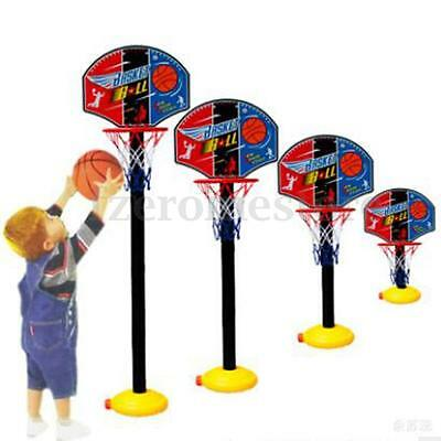 Portable Children Kids Adjustable Basketball Indoor Outdoor Play Net Hoop Set