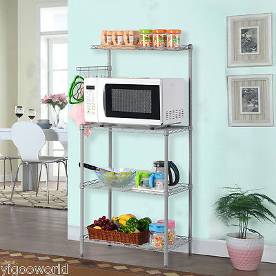 3-Tier Microwave Oven Storage Shelving Rack Space Saving Home Kitchen Shelf NEW