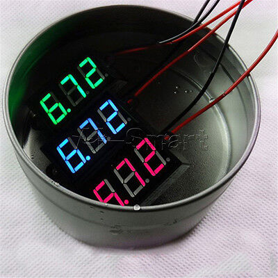 "DC 3.5-30V Waterproof 0.28"" Mini Digital LED Voltmeter Volt Meter F 12V Car Moto"