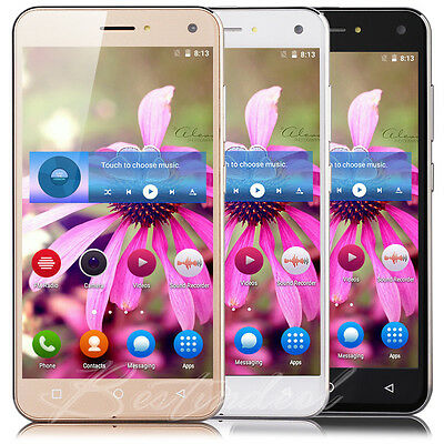 "5"" Quad Core Android 5.1 Smartphone 3G Unlocked Mobile Cell Phone Dual SIM GPS"