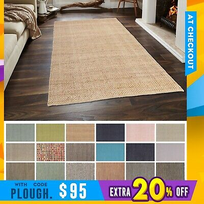 New Modern Floor Rug Handmade Styles Natural Jute Stunning Chic Design Carpet