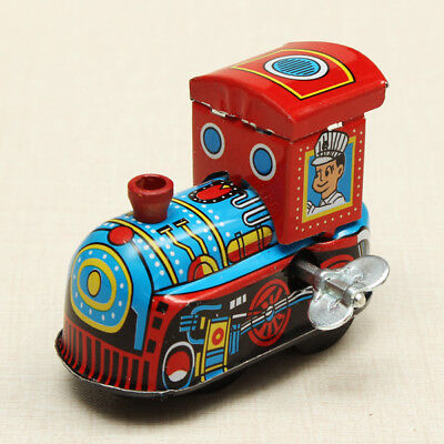 Retro Vintage Metal Wind-up Jumping Car Clockwork Tin Toys Classic Party Favor