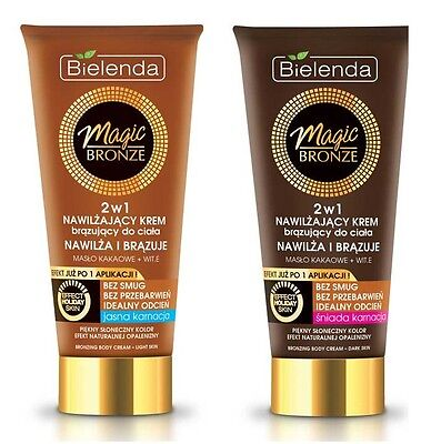 BIELENDA MAGIC BRONZE 2in1 MOISTURIZING BRONZING BODY CREAM WITH COCOA BUTTER