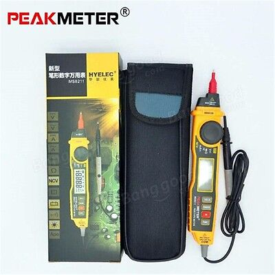 PEAKMETER MS8211 Digital Multimeter Pen Type Meter DC AC Voltage Current Teste