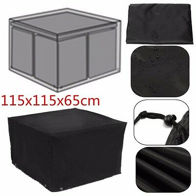 Waterproof Heavy Duty Rattan Cube Cover Outdoor Garden Furniture Rain Protect