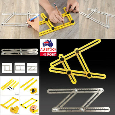 Stainless Steel / ABS Measuring Tools Multi-angle Template Tool Four-sided Ruler