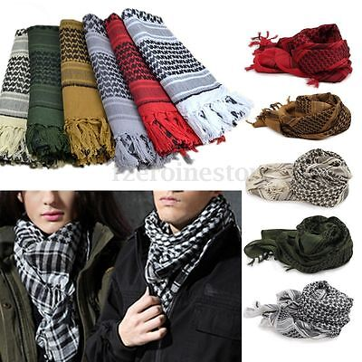Mens Lightweight Military Arab Tactical Desert Army Shemagh KeffIyeh Scarf Gift