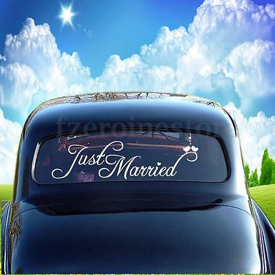 Just Married Wedding Day Car Window Banner Sticker Decal Vinyl Personalised Sign