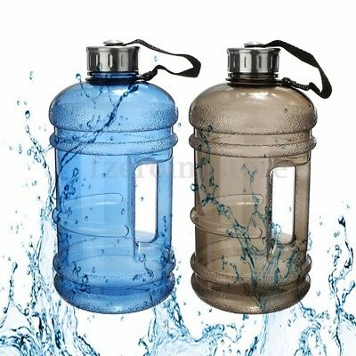Half Gallon Water Bottle Jug - (2.2L) Pre Workout Mixer and Protein Shaker 64oz