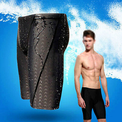 Fina Approved Men Sharkskin Racing Training Swimming Trunk Jammer Swimwear L-3XL