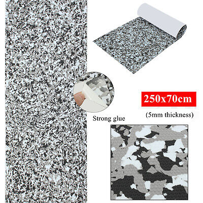 250x70cmx5mm EVA Boat Marine Deck Floor Self Adhesive Teak Sheet Grey Camouflage