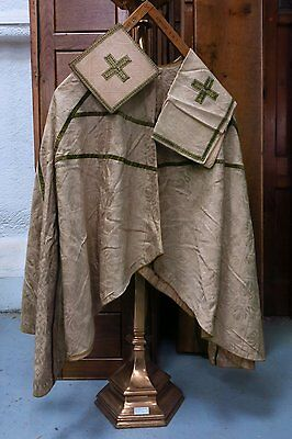 Chausble Cape With Olive Gold Braid