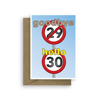 Funny 30th Happy Birthday Card For Him Her 30 Wishes Bday