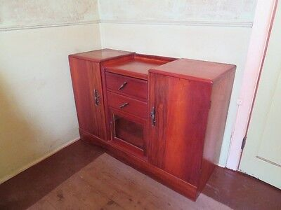 Tasmanian Silky Oak, French Polished, Large Wooden Cabinet.