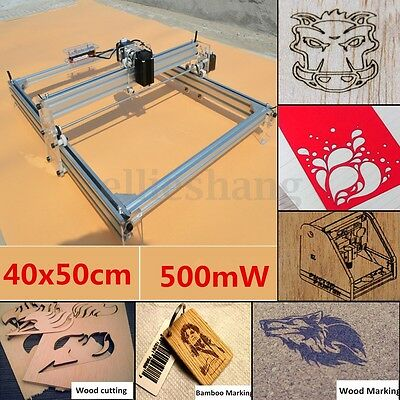 500mW Mini Laser Engraving Machine Logo Cutting Marking Wood Printer 40X50CM DIY