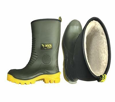 VASS Tex Fleece Lined Wellie Short Waterproof R Boot Welly NEW *All Sizes*