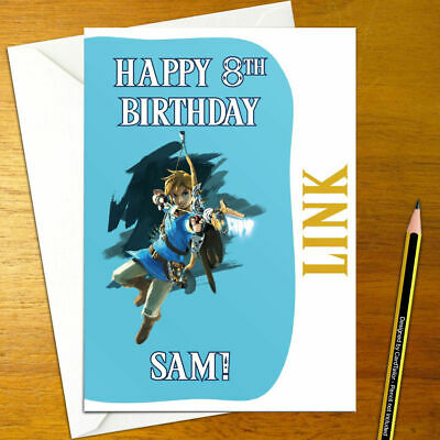 BREATH OF THE WILD LINK Personalised Birthday Card