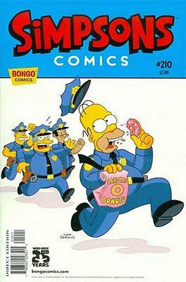Simpsons Comics # 210 Near Mint (NM) Bongo Comics MODERN AGE