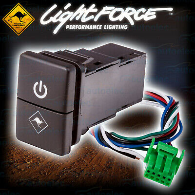 New Lightforce Dual Push Button On / Off Switch Suit Toyota Hilux My15 - 2017