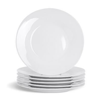 "White Side / Dessert Plates. Porcelain Tableware Crockery - 154mm (6"") - x24"