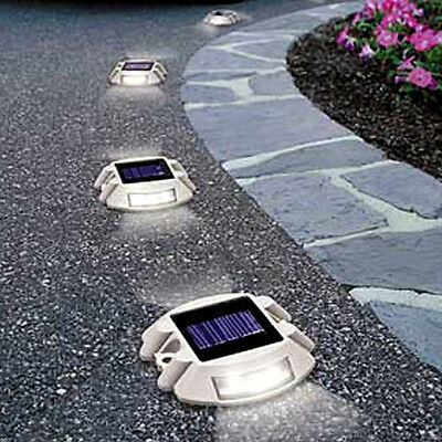 6 LED Waterproof Solar Power Road Pathway Stair Dock Light Driveway Path Lamp