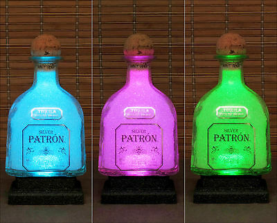 Patron Tequila Mexico LED Bottle Lamp Color Changing Remote Control  Bar Light
