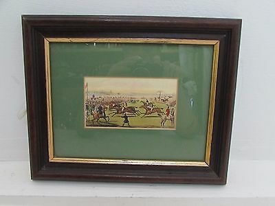 Antique Hand Coloured Small Hunting Print