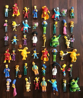 The Simpsons job lot of 48 figures Homer Bart Lisa Marge Lenny Carl Barney Burns