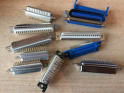 Pack of mixed D sub connectors   as picture  various sizes     Z1085